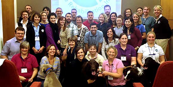 Introduction to Canine Rehabilitation (UK) class in October 2013
